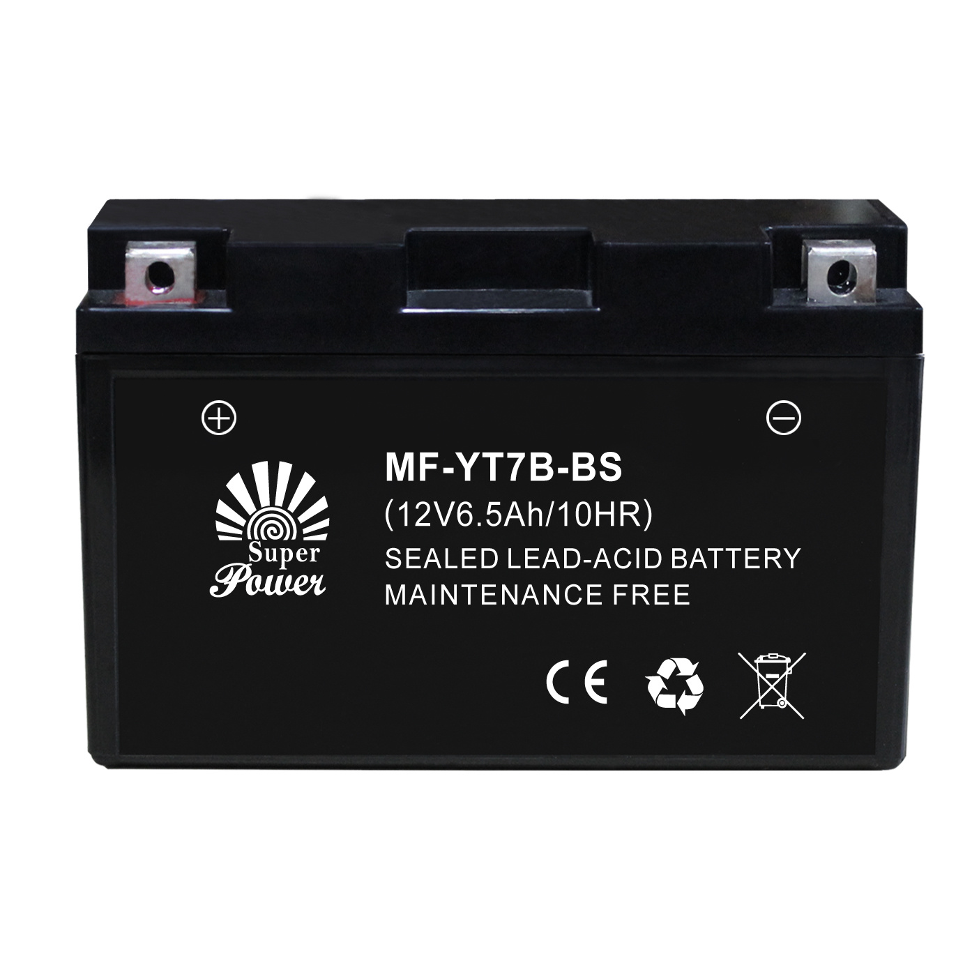 VRLA Motorcycle Battery 12V 7ah with CE UL Certificate Called MF-YT7B-BS