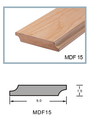 Ck MDF Skirting Baseboard Covered with PVC Grain Pattern
