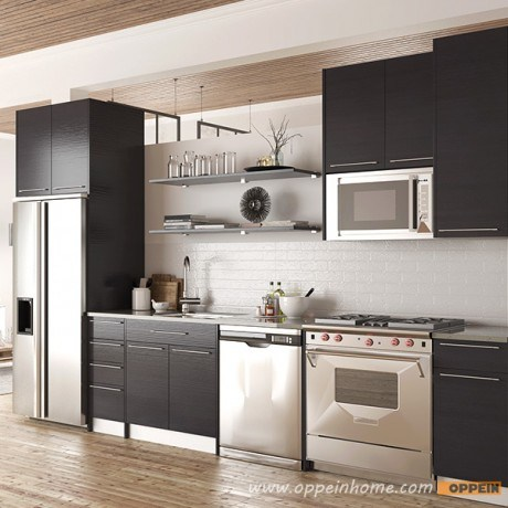 Modern Melamine Modular Wholesale Wood Kitchen Units Furniture (OP15-M12) pictures & photos