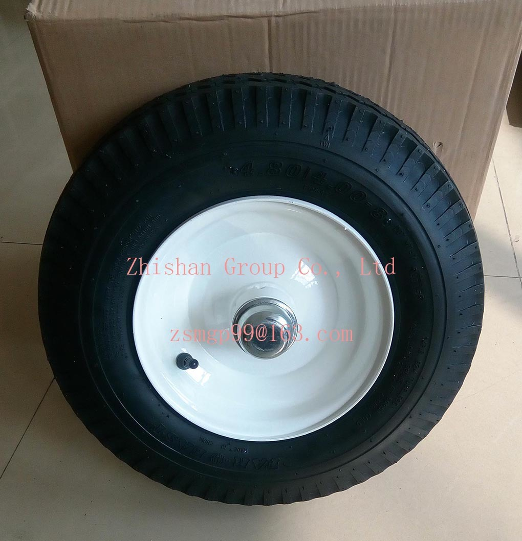 China 4.80/4.00-8 Tubeless Pneumatic Rubber Wheel Photos & Pictures ...