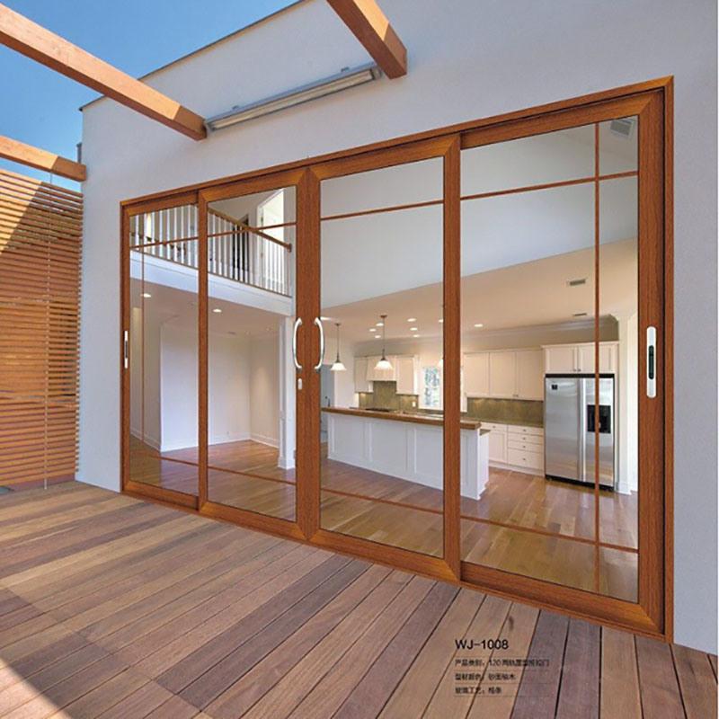 China Exterior Aluminium Louver Door Balcony Wooden Door