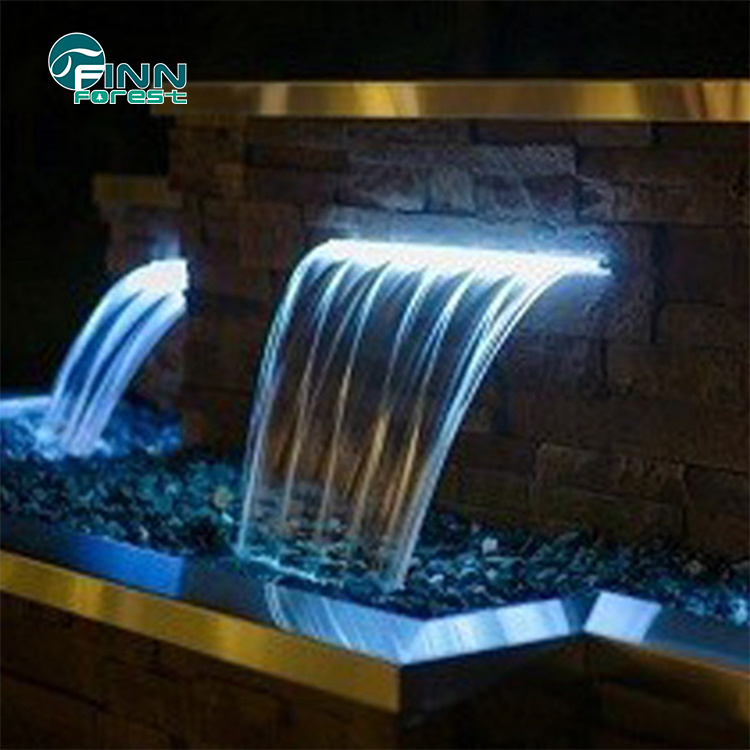 [Hot Item] High Quality Stainless Steel Swimming Pool Wall Fountain Water  Cascade