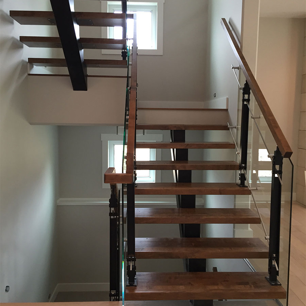 Etonnant China Building Center Beam Steel Staircase DIY Installs   China Steel  Structure Staircase, Customized Oak Stairs
