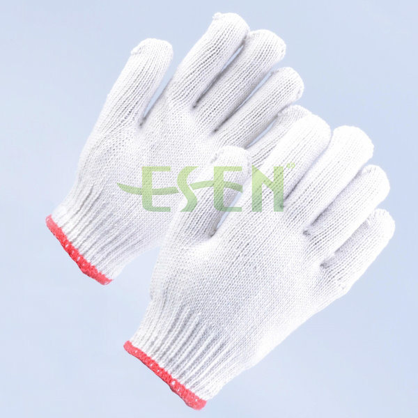 Heavy Weight Knit Glove /Soft White Cotton Gloves / Construction Work Gloves/ Garden Gloves