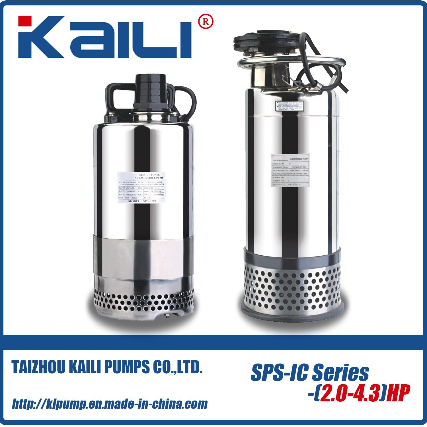 VN(WQ) of Stainless Steel Drainage Submersible Sewage Pump