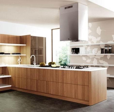China Wood Veneer Kitchen Cabinets (Booth) - China Kitchen ...