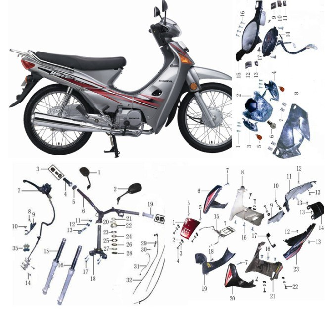 Parts Of Motorcycle Honda Wave