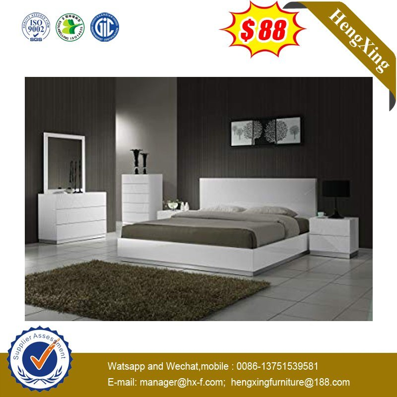 China Modern White Bedroom Furniture Sets Wooden Bedroom Furniture China Double Bed Wooden Furniture