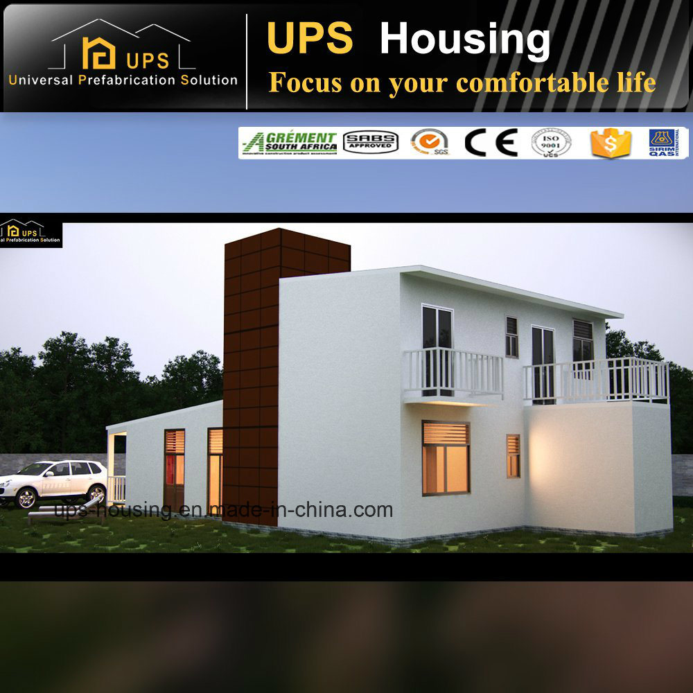 SABS Certificated Durable Three Bedroom Single Story Prefabricated House