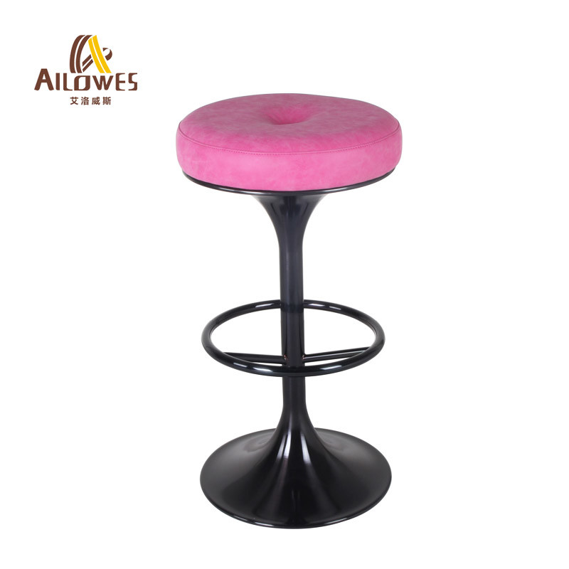 Cool Hot Item Round Pu Seat 304 Grade Stainless Steel With Black Gold Color High Bar Stool Chair Unemploymentrelief Wooden Chair Designs For Living Room Unemploymentrelieforg