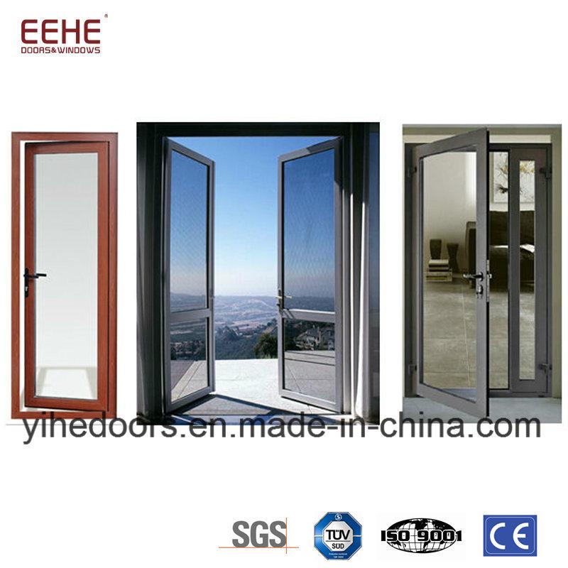 China Metal Aluminum Door With Double Layer Temperedlow E Glass