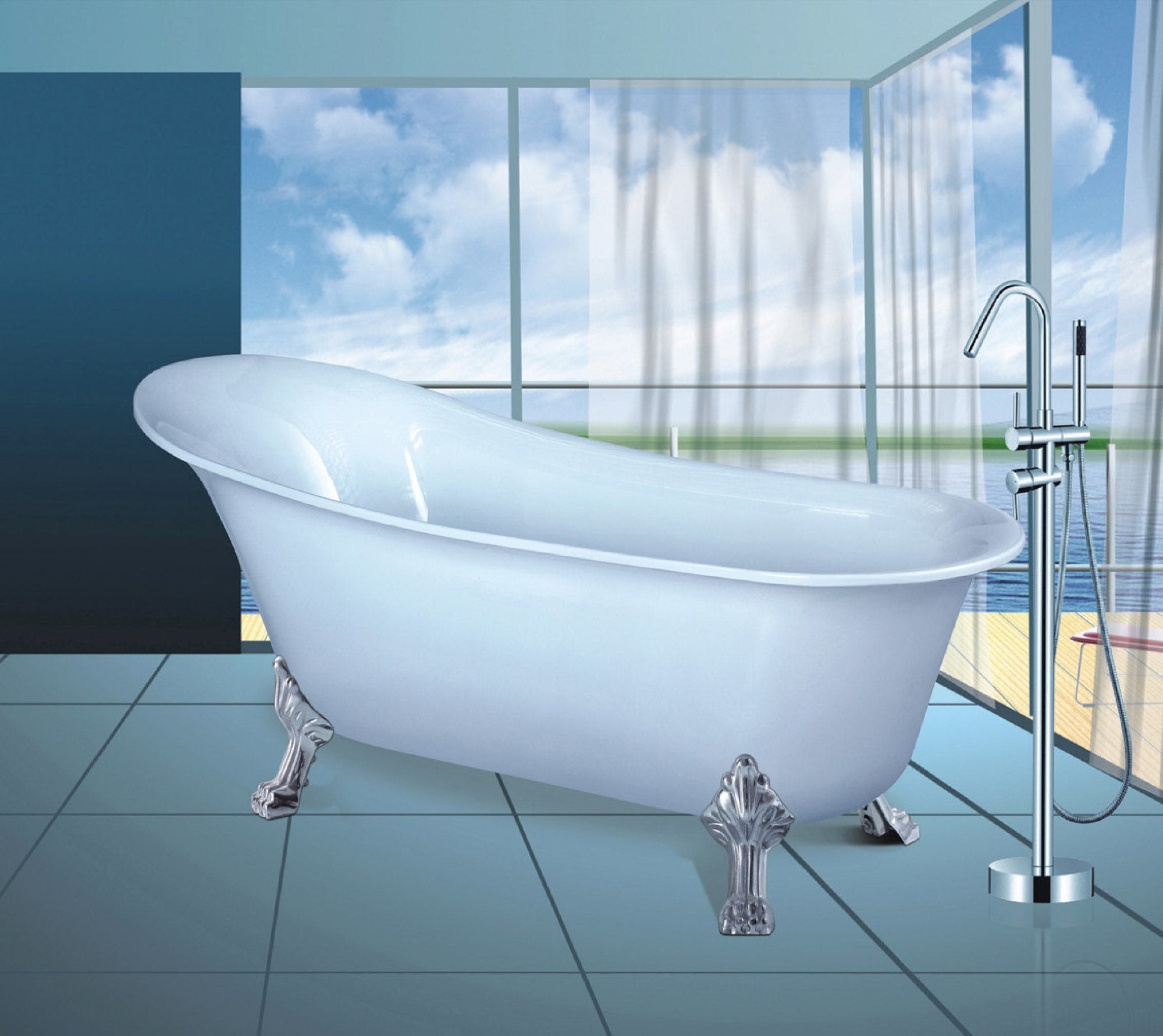 China High Quality Luxury Small Acrylic Bathtub with Factory Price ...