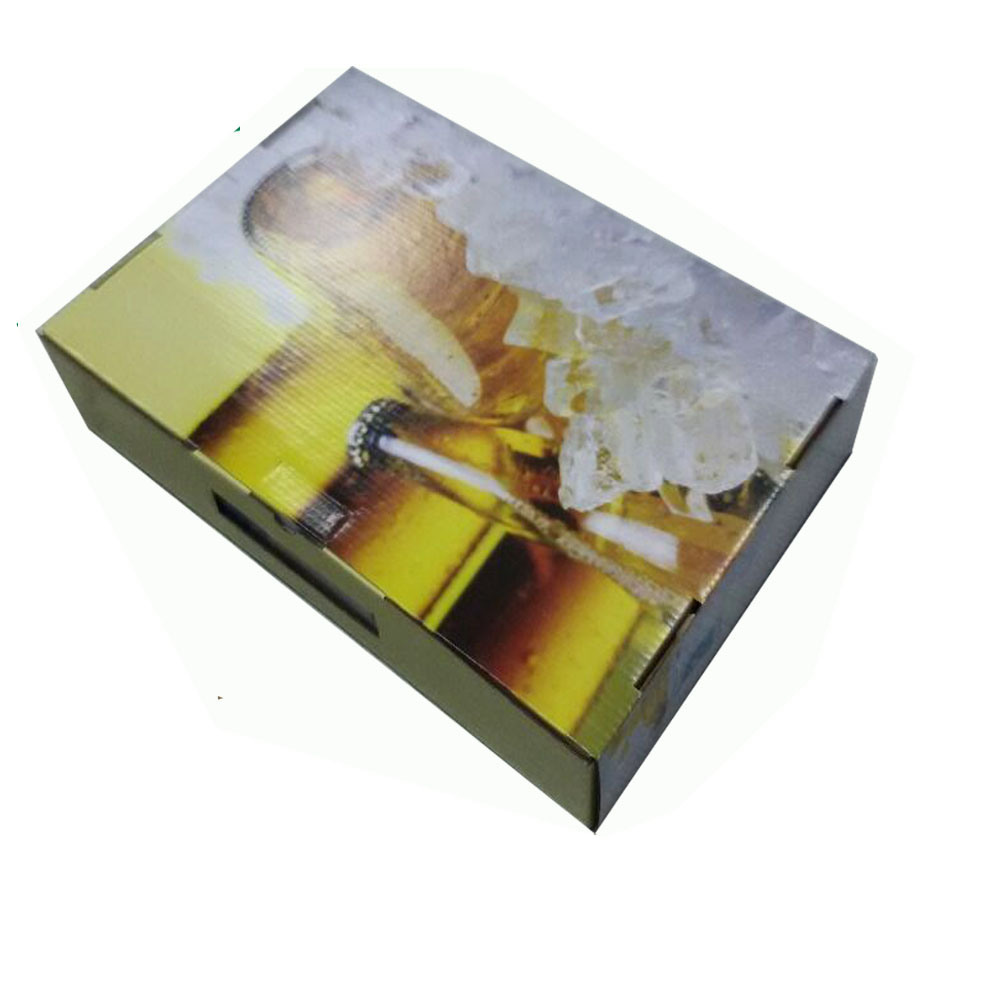 White Corrugated Cardboard Packing Box for Bottles pictures & photos