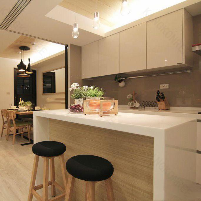 China Kingkonree Customized Quartz Stone Marble Kitchen Island Top