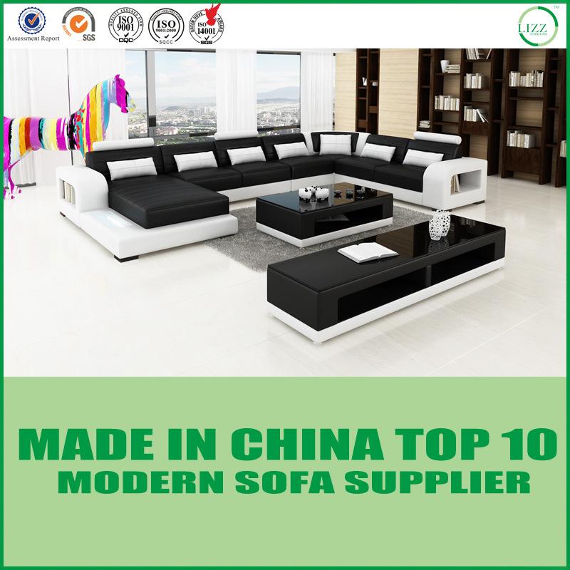 [Hot Item] Modern Italian Corner Sofa Living Room Furniture Set