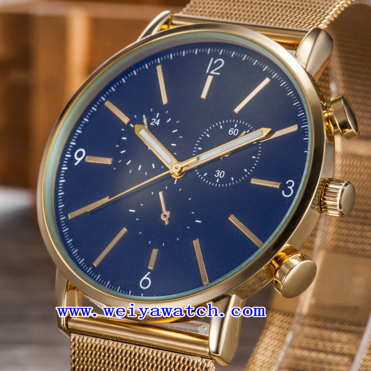 Watch Men Classic Quartz Stainless Steel Watch (WY-G17016A) pictures & photos