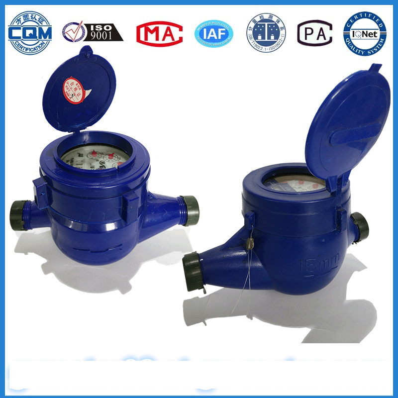 Plastic Water Flowmeter in Blue (ABS Material) pictures & photos
