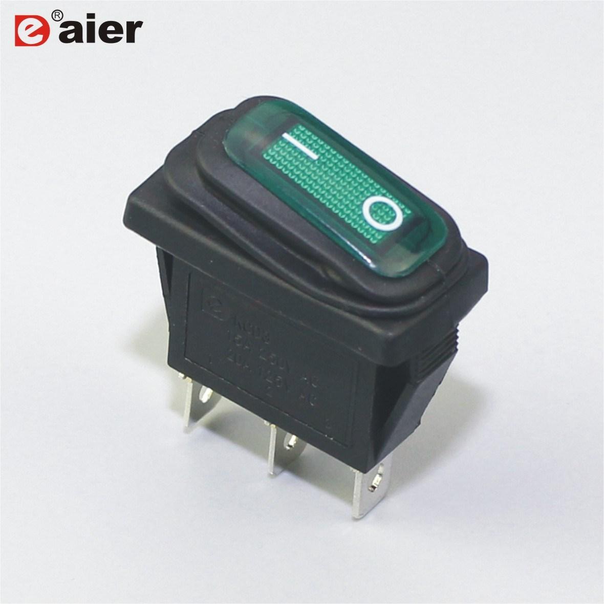 China 20a 3pin 3 Way Waterproof Rocker Switch On Off Adapter