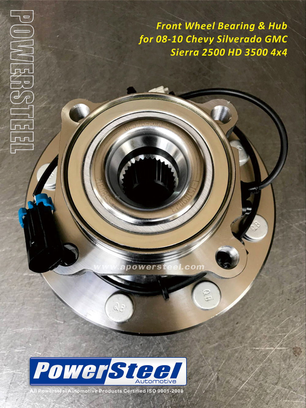 Front Wheel Hub Bearing Assembly for Chevrolet Silverado 1500 HD 2001-2006 4WD