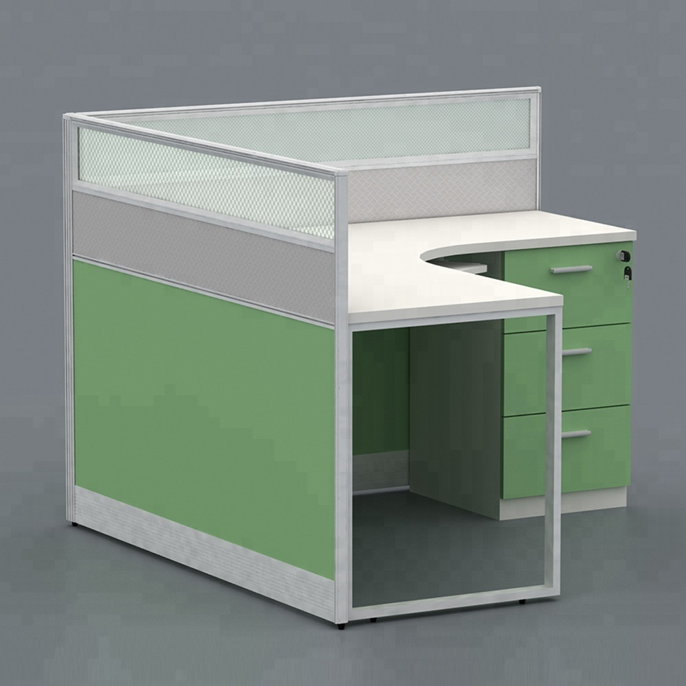 Light Blue Straight Screens Partition Desk Dividers Office Furniture