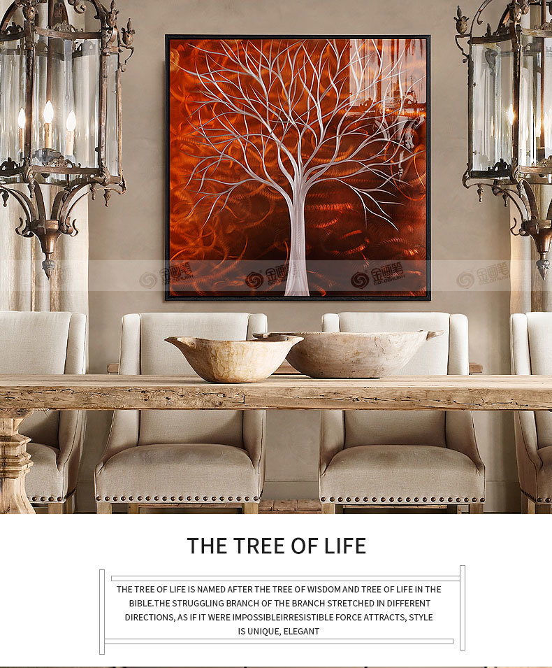 China Tree Wall Art On Metal Abstract Paintings Modern Artwork Art Wall Decor Hand Painted Picture China Aluminum Painting And 3d Wall Decoration Price