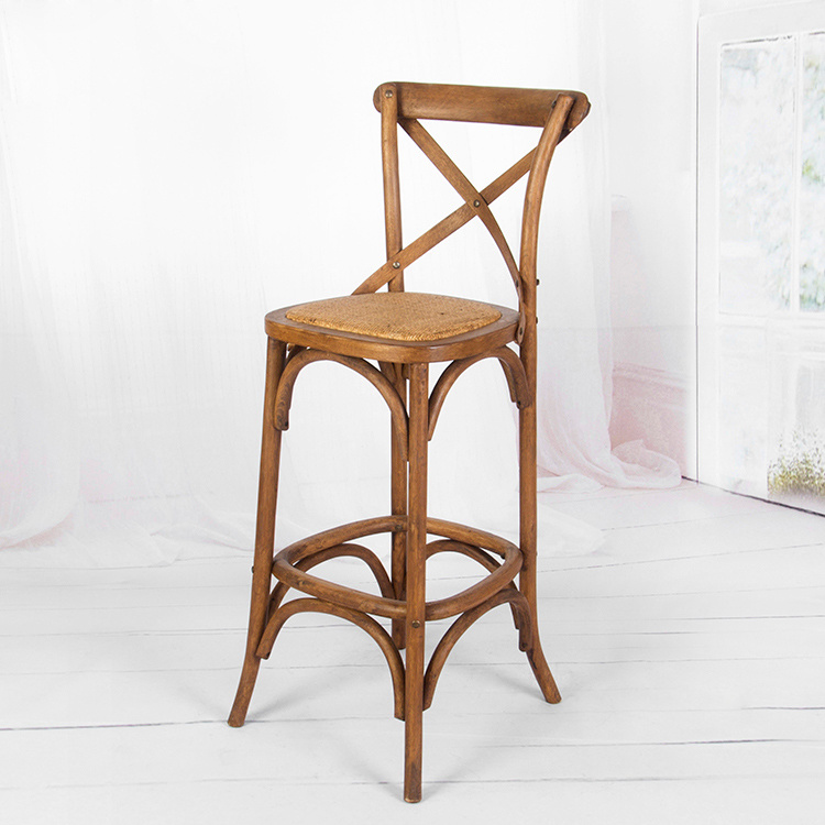 Hot Item Dc 118 Traditional Crossback Antique Look Wooden Bar Stool