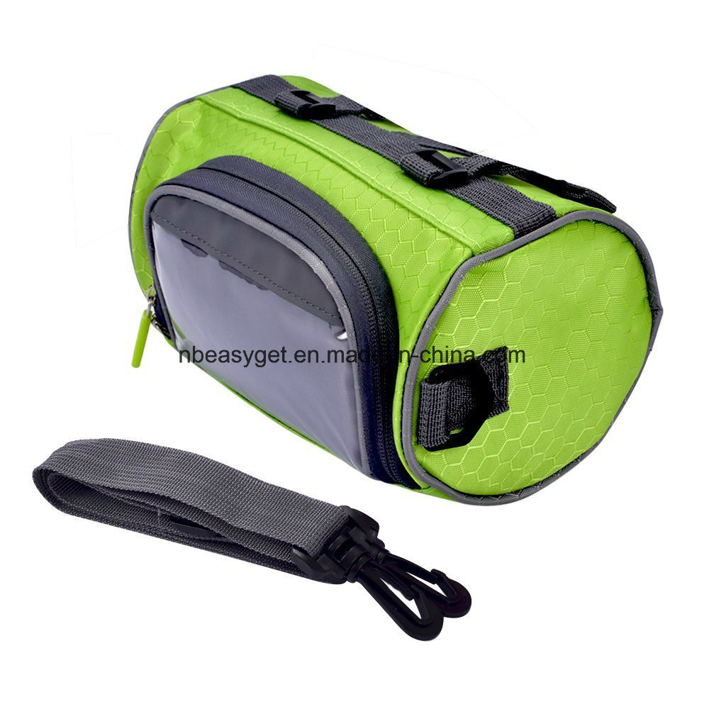 Bicycle Bag Cycling Cylindrical Portable Bicycle Bike Front Handlebar Bag with Transparent Pouch for Riding and More Outdoor Activities Esg10163 pictures & photos