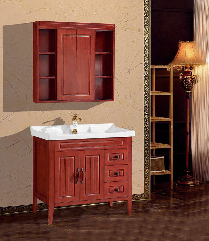 Charmant New Design Modern Wood Bathroom Vanity With Chinese Fengshui Mirror Cabinet  1107   China Bathroom Vanity, Sanitary Cabinet