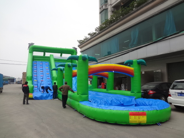 2019 New Kid Outdoor Funny Big Jungle Inflatable Water Slip N Slip Games pictures & photos