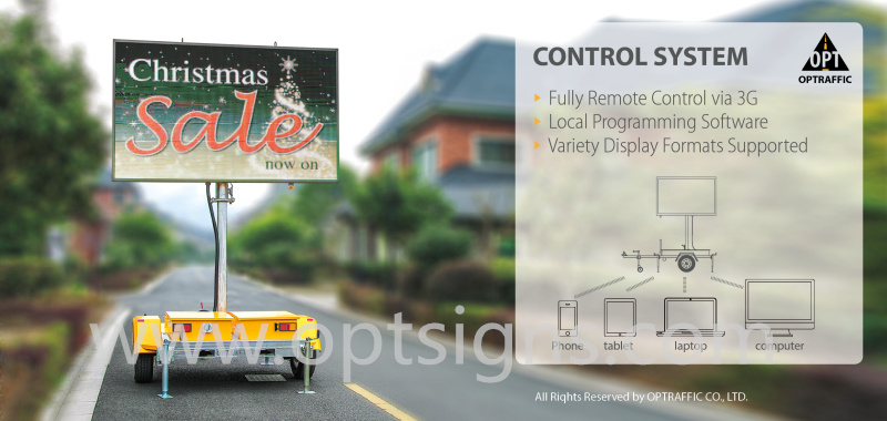 Full Color Display LED Safety Light Commercial Vms