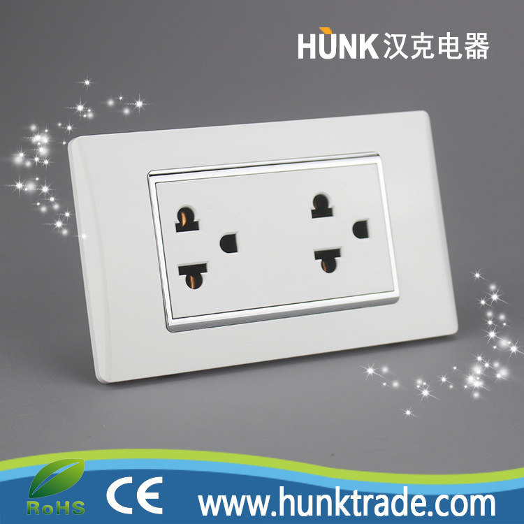 China Galvanized Silver Frame Universal Socket Us Power Outlet ...