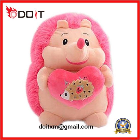 China Plush Stuffed Animal Toy Pink Hedgehog Toy China Stuffed