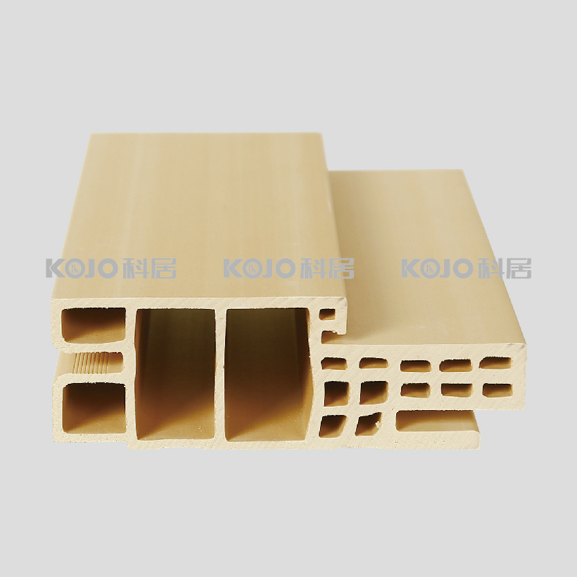 Customized Eco-Friendly Raw Material PVC Covered WPC Door Frame (PM-120E-2)