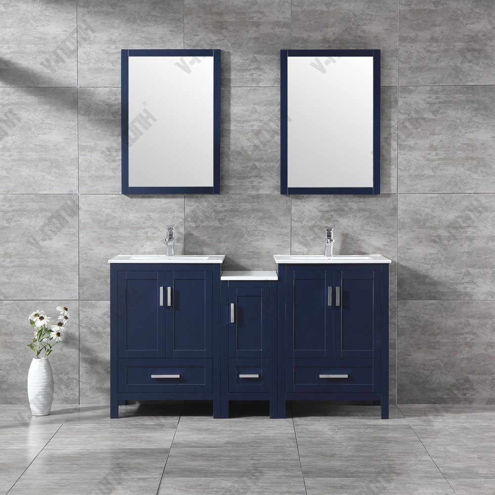 Double Sinks Bathroom Vanity