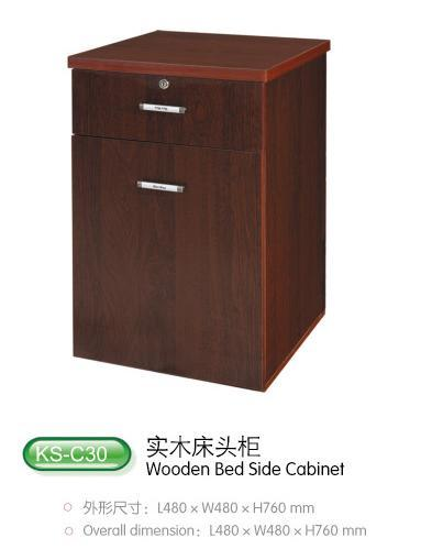 China Wooden Bed Side Cabinet Gl C30 Medical Equipment Hospital