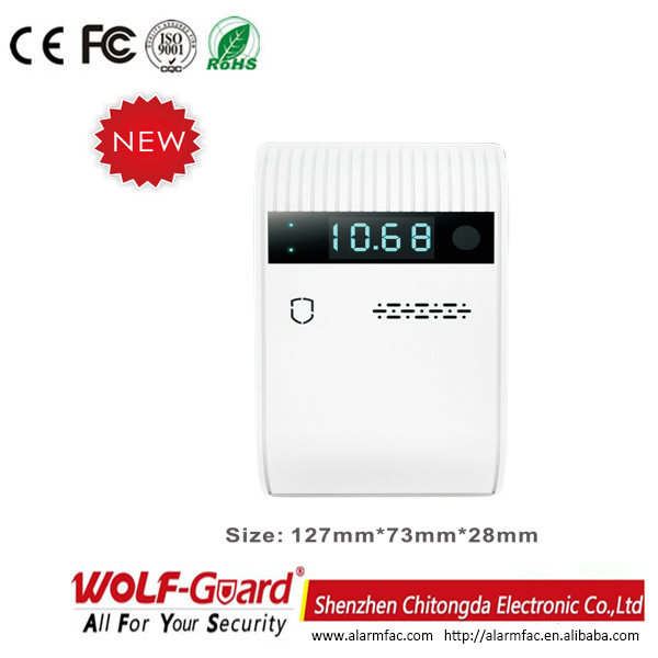 Qg-06 Wireless/Wired Kitchen Safety GSM LED Digital Gas Detector