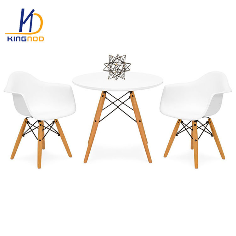 Round Table Madera.Mesa Estructura Patas Madera Eames Dsw Kids Eames Style Table