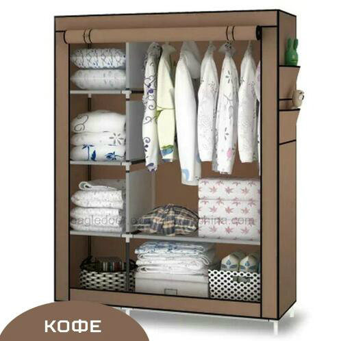 Modern Simple Wardrobe Household Fabric Folding Cloth Ward Storage Assembly  King Size Reinforcement Combination Simple Wardrobe (FW 21)