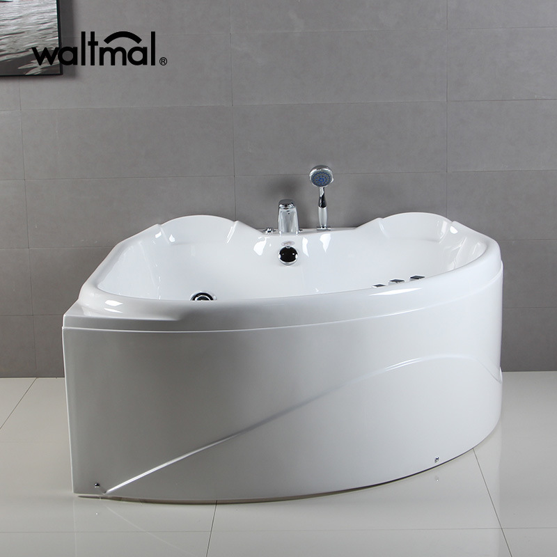China Two Person Small Size Bathtubs 1300X1300mm Triangle Massage ...