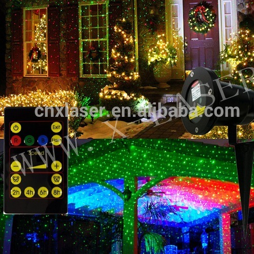 outdoor decoration light christmas laser projector to wall water tree