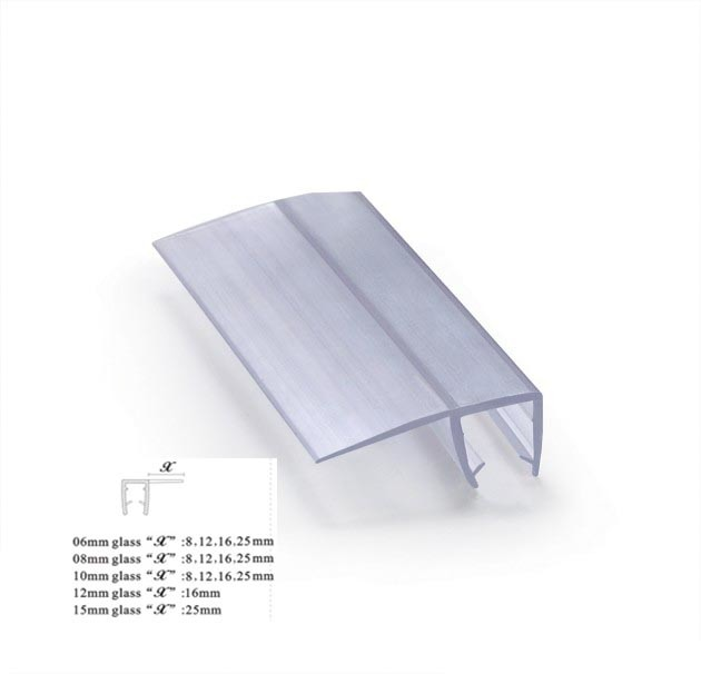 China Clear Pvc Plastic Shower Strips For Sealing Square Cabin 90 Degree Glass Door Seals Seal