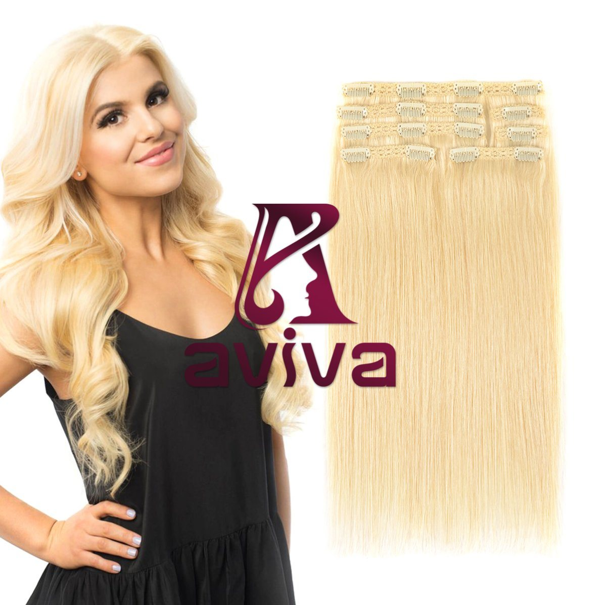 China Brazilian Hair Extension Clip In Human Hair Extension Clip In