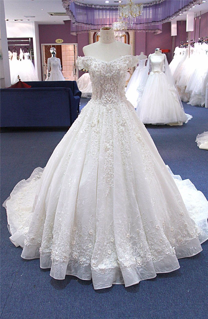 China Custom Made Muslim Wedding Gown Bridal Dress Wgf182 Photos ...
