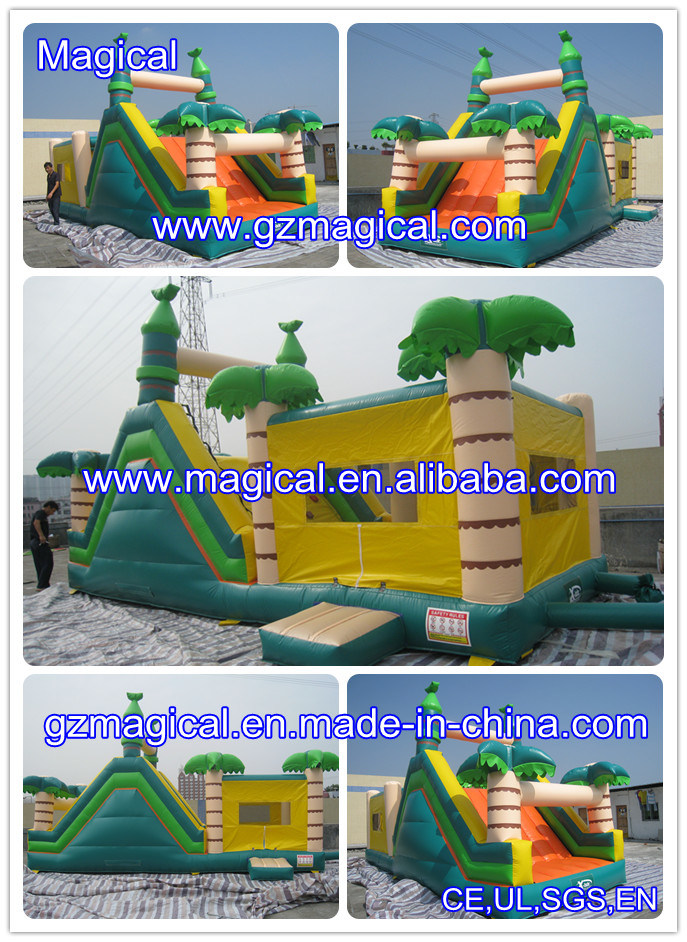 Jumping Moonwalk Combo with Slide Bounce House Bouncy Castle Inflatable Bouncer (MCA-46)