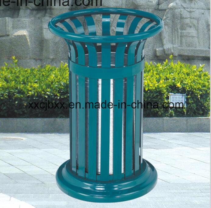China Round Top Opening Garden Trash Bag Holder Receptacles/Metal Dustbin    China Receptacles, Metal Dustbin