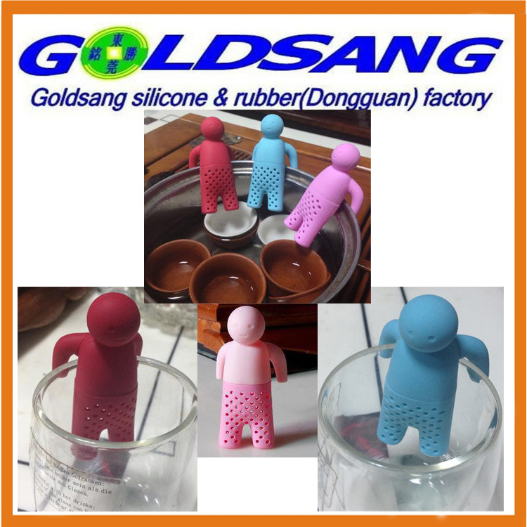 Popular Selling Lazy Mr. Tea Silicone Tea Infuser with Removable Hands pictures & photos