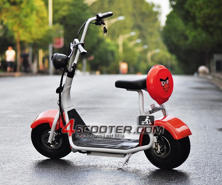 500W Electric Scooter Harley Scooter Adult Big Wheel Scooter