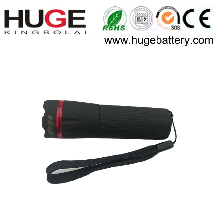 Portable 1W Battery Powered Plastic LED Torch for Camping (KBL-3A)