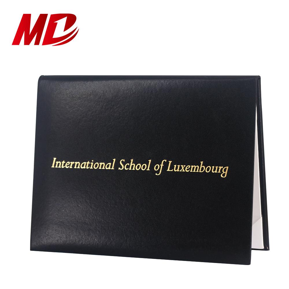 Hot Item Custom Design Certificate Holder Of Graduation Black Diploma Cover