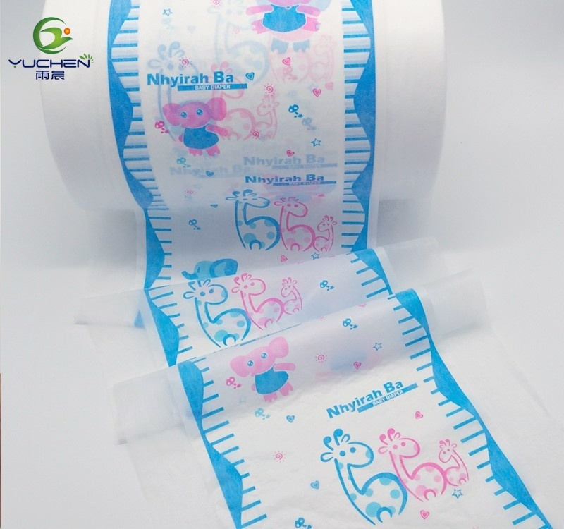 Baby Diaper Cloth Like Polyethylene Back Sheet Film Lamination Nonwoven pictures & photos